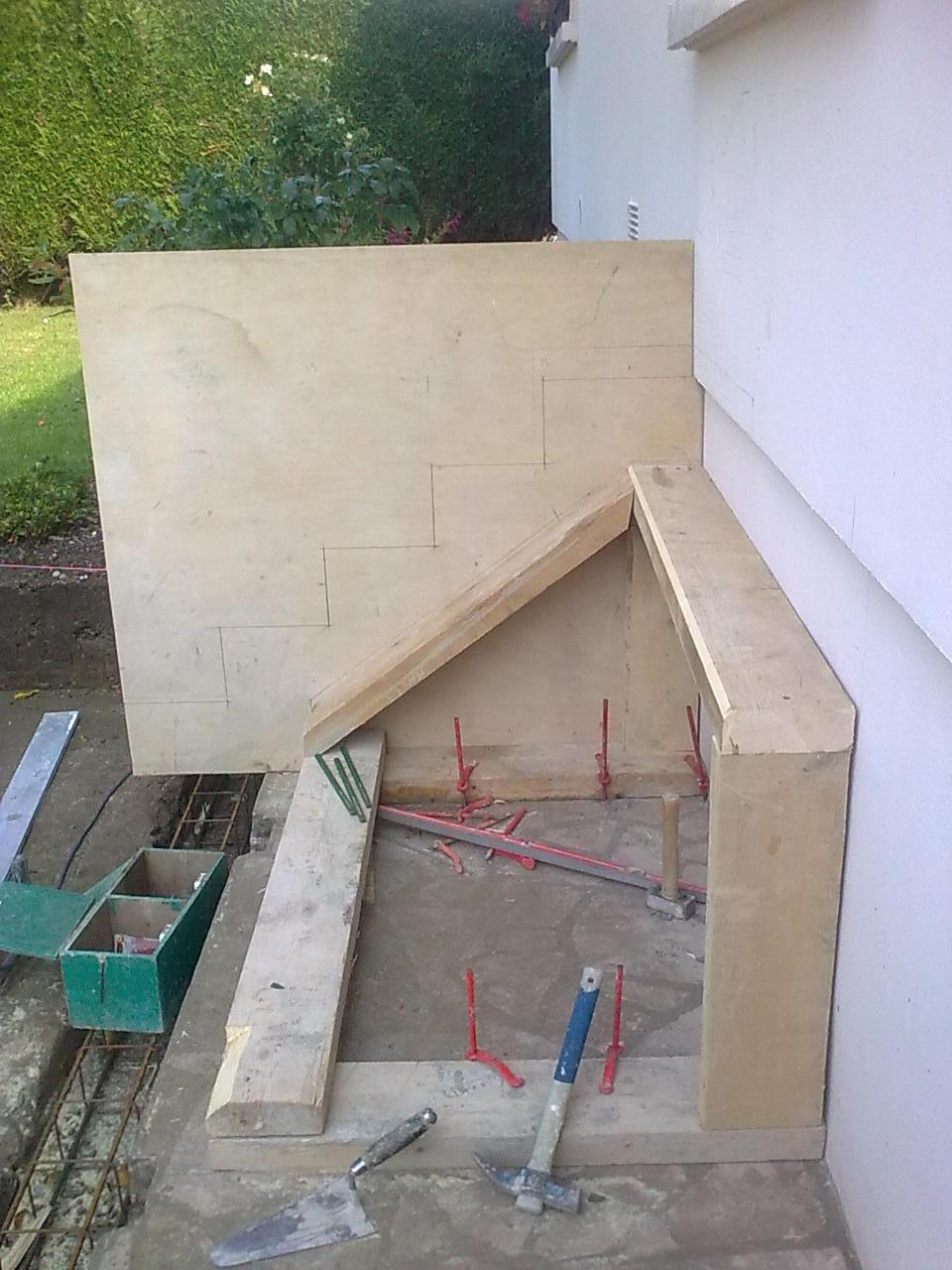 etapes pour la fabrication d 39 un escalier b ton entreprise de ma onnerie et carrelage du havre. Black Bedroom Furniture Sets. Home Design Ideas